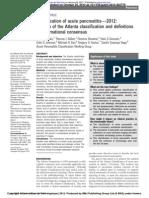 Classification of acute pancreatitis—2012