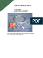 60817457 Arma Tu Propio Cable USB Extendido Con Cable UTP