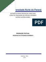 TRABALHO DE PESQUISA DE ATIVIDADE ECONÔMICA