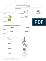 REPASO Consonantes P y S