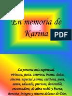 En Memoria de Karina 2009