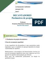 parâmetros_decantadores