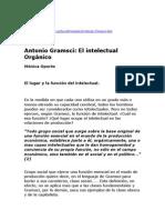 Antonio Gramsci El intelectual Orgánico Monica Oporto