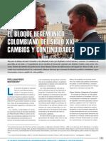 Pardo Montenegro, Liliana. El Bloque Hegemónico Colombiano del siglo XXI