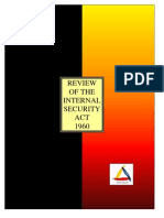 REVIEW OF THE INTERNAL SECURITY ACT (ISA) 1960