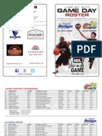 OLY vs JPN Game Day Roster 6-20-2013