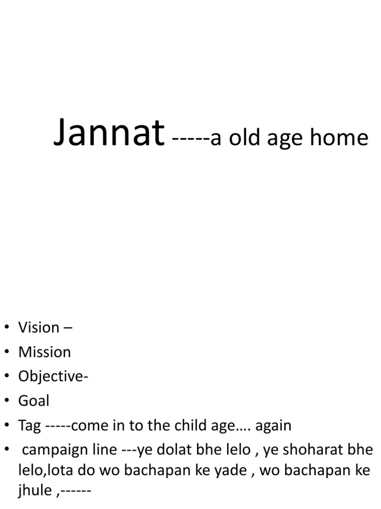 old age home business plan   orphanage   old age