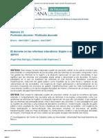 El Docente en Las Reformas Educativas_ Sujeto o Ejecutor de Proyectos Ajenos
