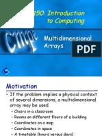 Ch7 Multi Dimensional Arrays