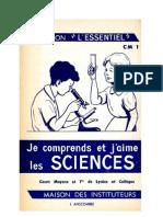 Leçons de Choses CM1-CM2 Je comprends et j'aime les sciences Anscombre MDI