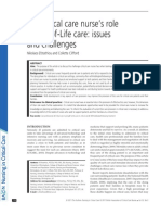 The critical care nurse's role in EOL