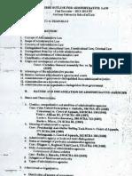 Admin Law Course Outline