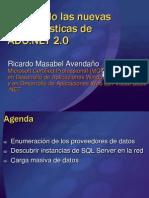 20060825 PPTs Revisando Novedades ADONET2