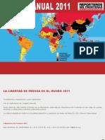 [TextosEnEspañol] reporters without borders - reporte sobre la libertad de la prensa en 2011