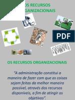 Os Recursos Organizacionais