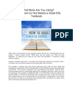 How to Select (or Not Select) a Great ESL Textbook