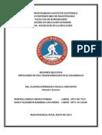 RESUMEN EJECUTIVO IMPULSORES DE UNA TRANSFORMACIÓN EN EL DESARROLLO, CLASE 3
