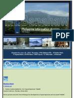 Dispatch for June 20 , 2013 Thursday, 5 PIA Calabarzon PRs , 10 Weather Watch, 8 Regional Watch , 20 OFW Watch ,1 PNOY Speech, 16 Online News , 4 Photonews