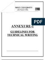 M.tech Technical Writing Guidelines-Annexure 1