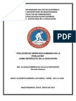 ENSAYO SOBRE VIOLACIÓN DE DERECHOS HUMANOS Y CÓMO REPERCUTE EN LA EDUCACIÓN, Clase 6