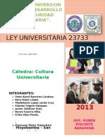 Ley Universitaria Terminado