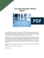 The Rhythm of the Semester