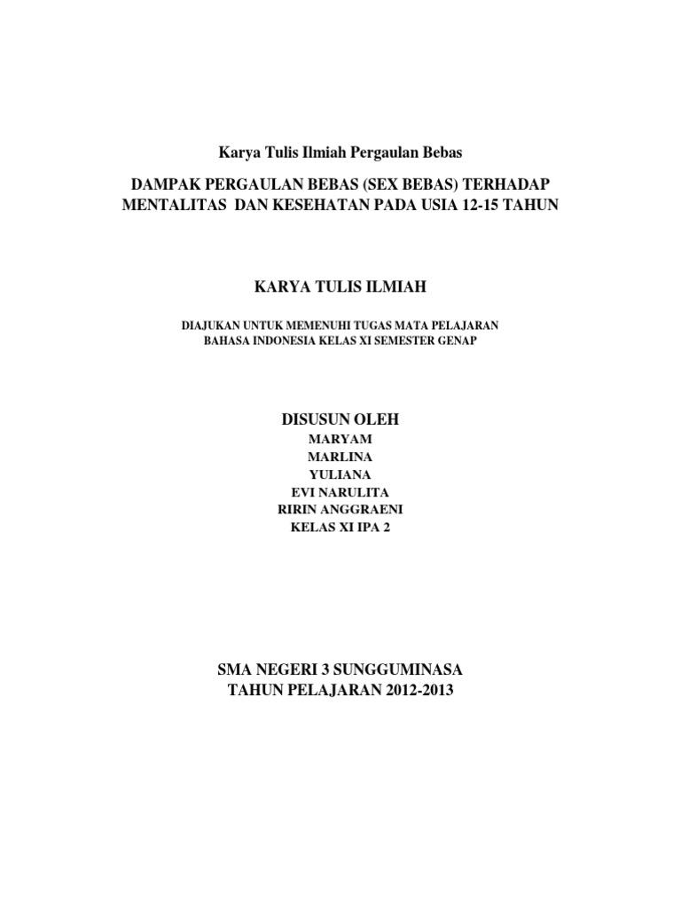 Contoh Karya Tulis Ilmiah Bahasa Indonesia Pdf