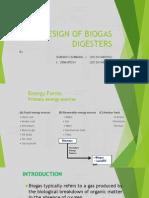 Design of Biogas Digesters
