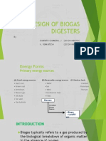 Design of Biogas Digesters