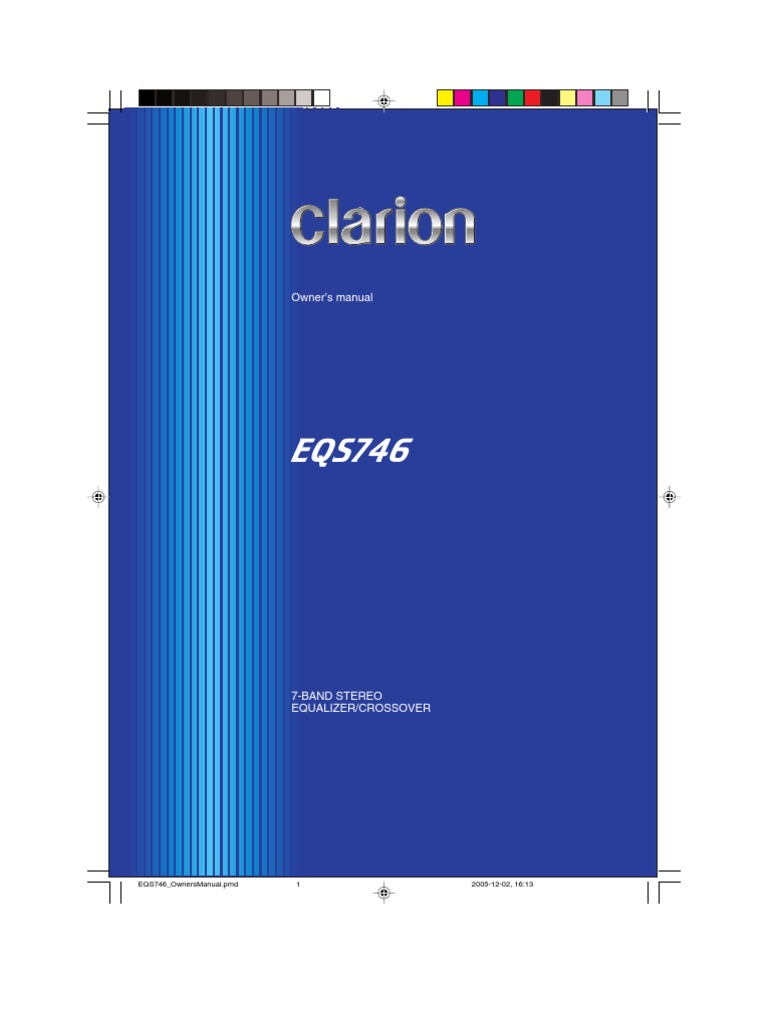 Clarion Eqs746 Wire Harness Wiring Library Double Trailer Ground Equalizador Equalization Audio Amplifier