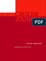 Karatini - Transcritique Kant and Marx