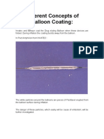 Different Concepts of Balloon Coating