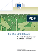 The 2012 EU Industrial R&D Investment Scoreboard