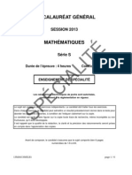 Bac S 2013 Mathematiques Specialite