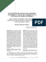 Los Incentivos Fiscales Del Regimen Economico y Fiscal de Canarias en Un Contexto de Crisis Economica