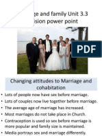marriage and family revision power point