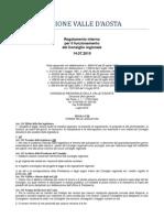 48. Regolamento Interno Consiglio Valle d'Aosta 14.07.2010 - Titolo 8