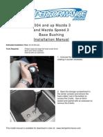 Mazda 3 Base Bushing Manual