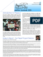 Pegasus Project Newsletter Summer 2013