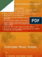 Music Video Exemplars