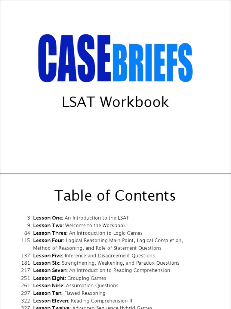 Casebriefs lsat course workbook law school admission test argument malvernweather Gallery