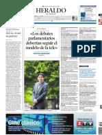 Entrevista en el Heraldo de Aragón 20 de junio 2013