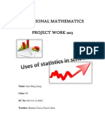 Additional Mathematics Project Work 2013 (Form 5): Statistics