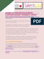 Working in Canada CUAC