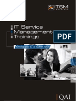 ITSM Training Brochure