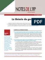 La théorie du genre une note de l'IFP