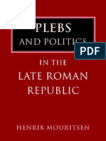 Henrik Mouritsen-Plebs and Politics in the Late Roman Republic-Cambridge University Press (2001)