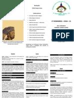 Seminário Indígena 2013 - folder