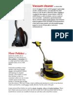 Vacuum Cleaner, Floor polisher.docx