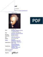 Immanuel Kant Life and Thought